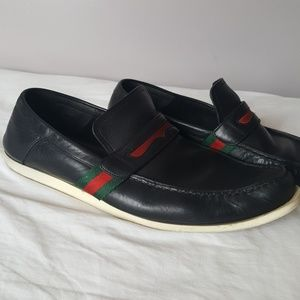 GUCCI Mens Penny Loafers Driving Shoes Sz 8.5D